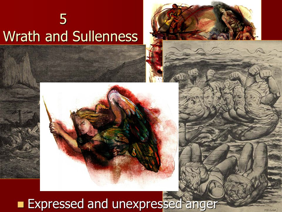 5 Wrath and Sullenness Expressed and unexpressed anger