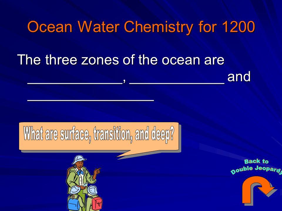 Ocean Water Chemistry for 1200