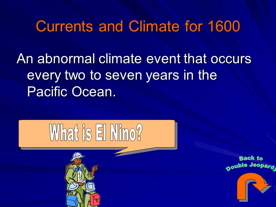 Currents and Climate for 1600