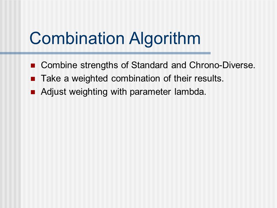 Combination Algorithm