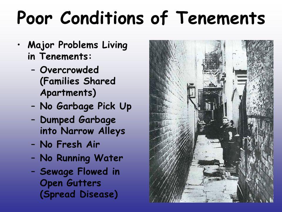 Poor Conditions of Tenements