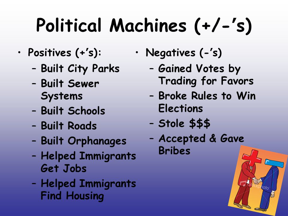 Political Machines (+/-'s)