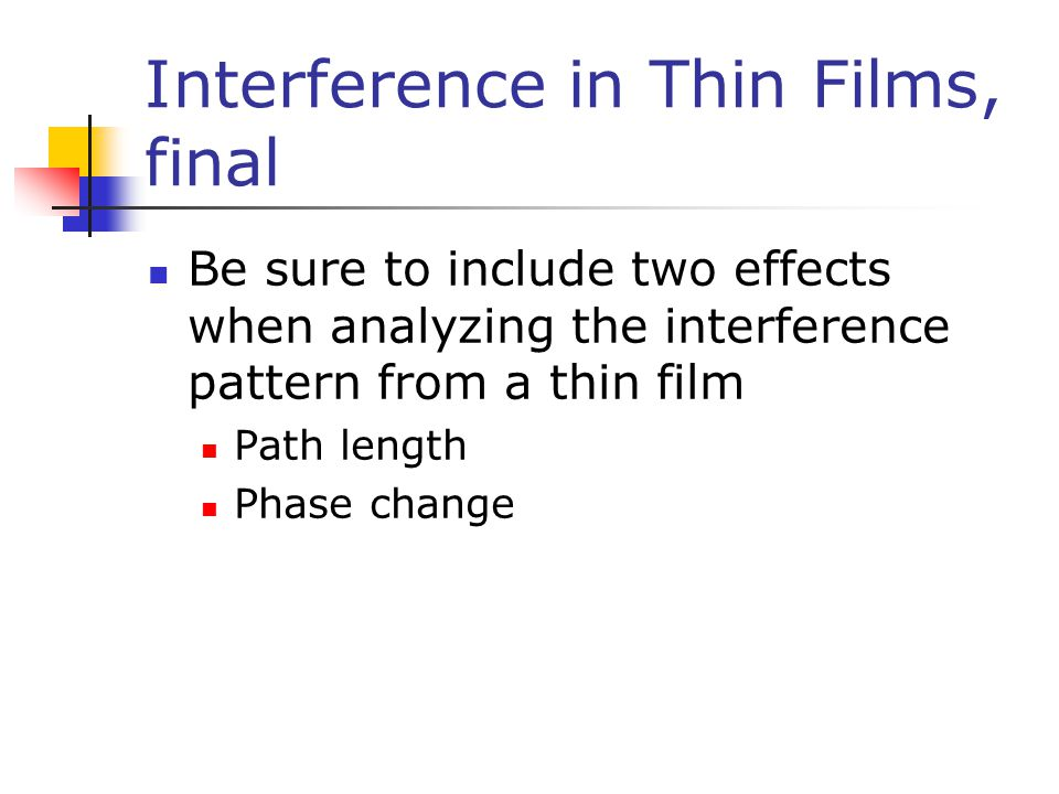 Interference in Thin Films, final