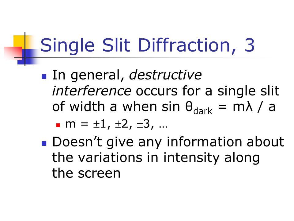 Single Slit Diffraction, 3