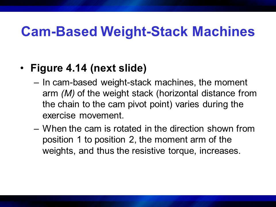 Cam-Based Weight-Stack Machines