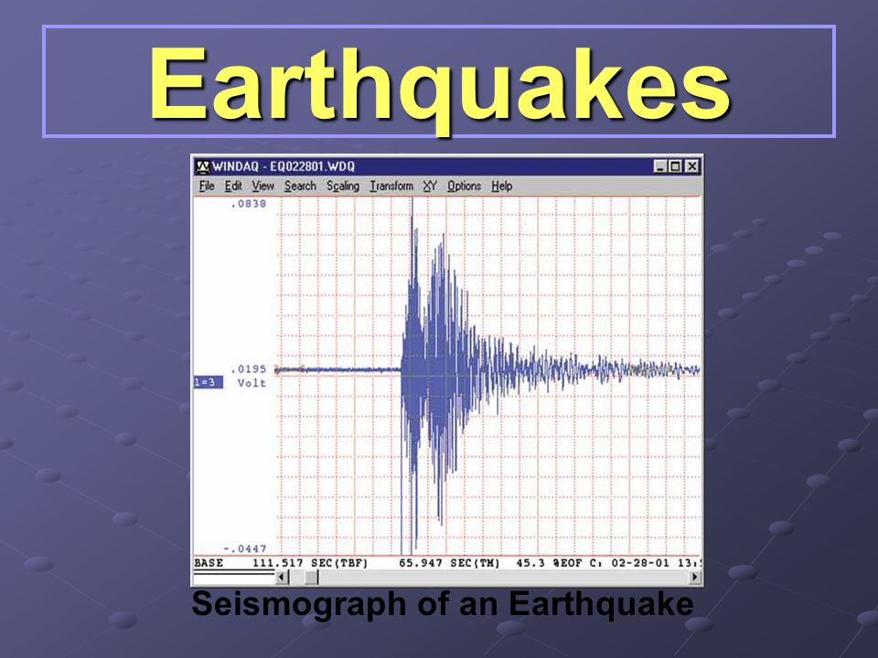 Seismograph of an Earthquake