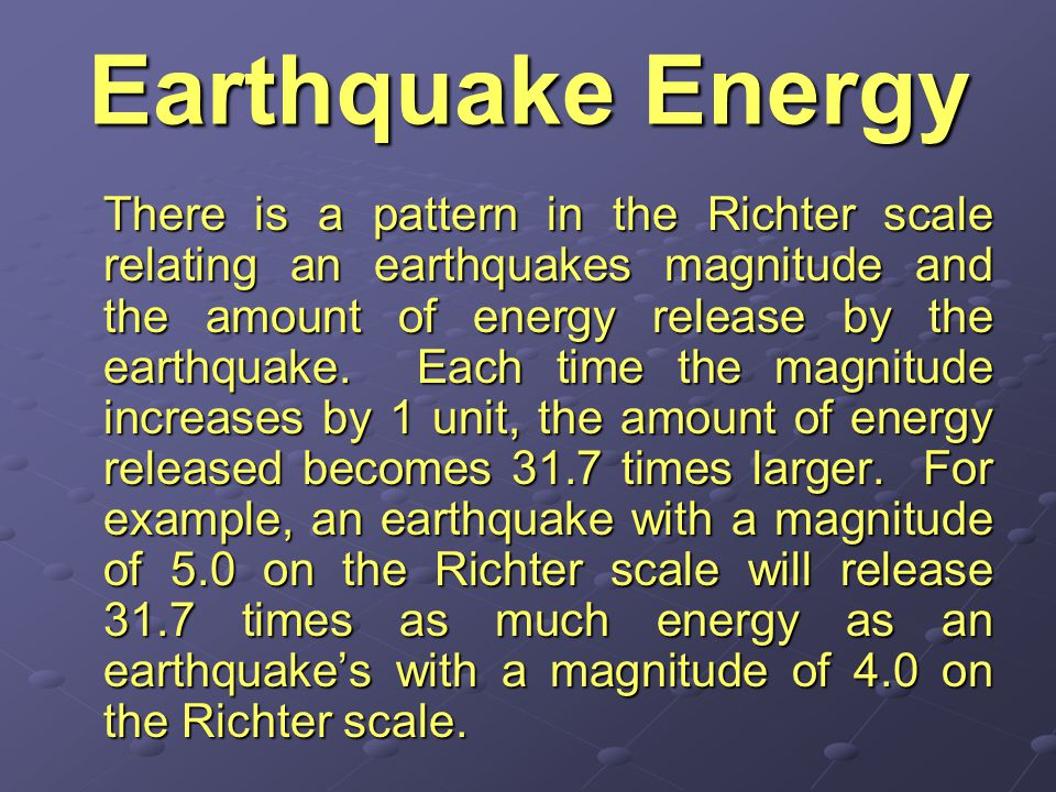 Earthquake Energy
