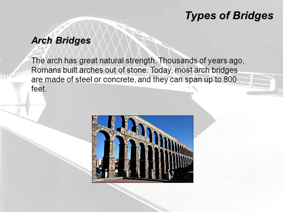 Types of Bridges Arch Bridges