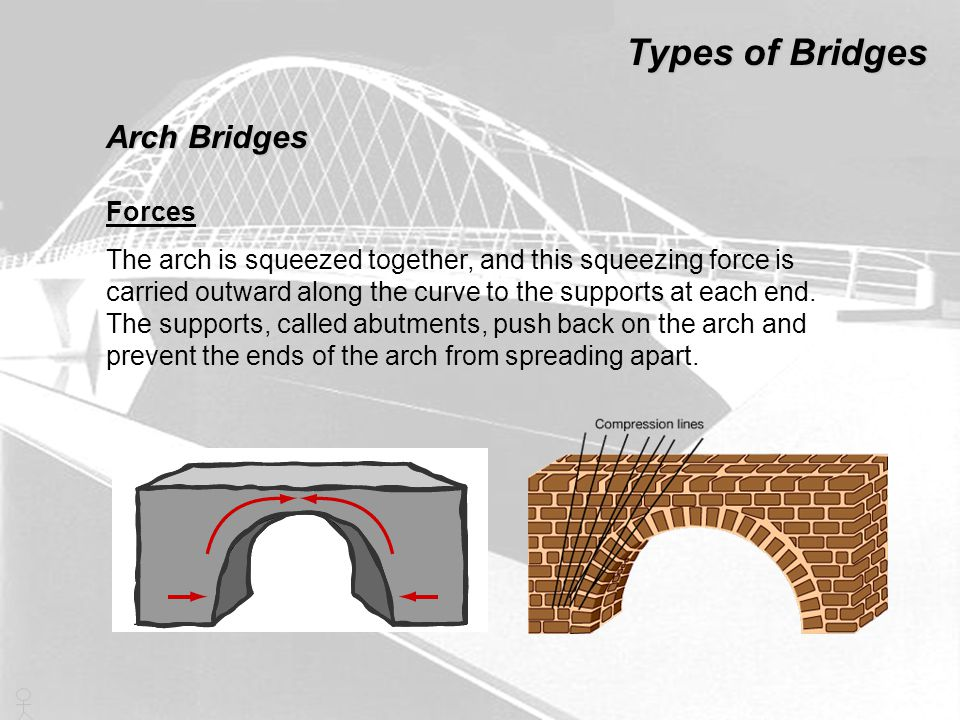 Types of Bridges Arch Bridges Forces