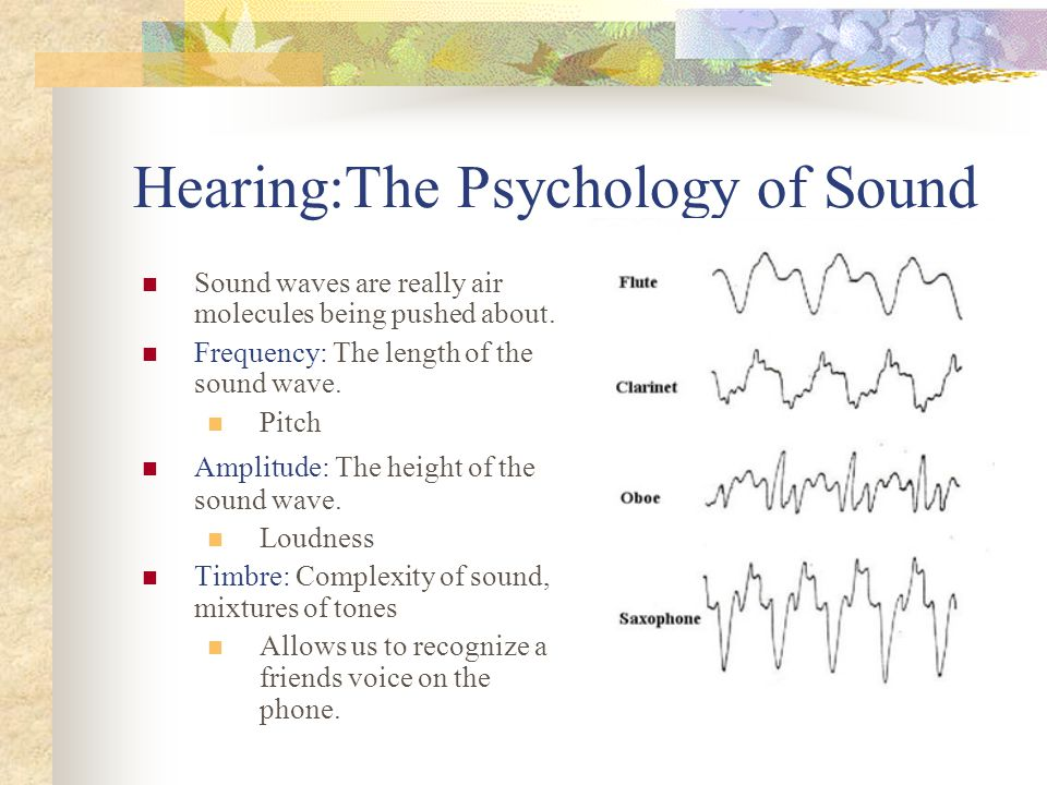 Hearing:The Psychology of Sound