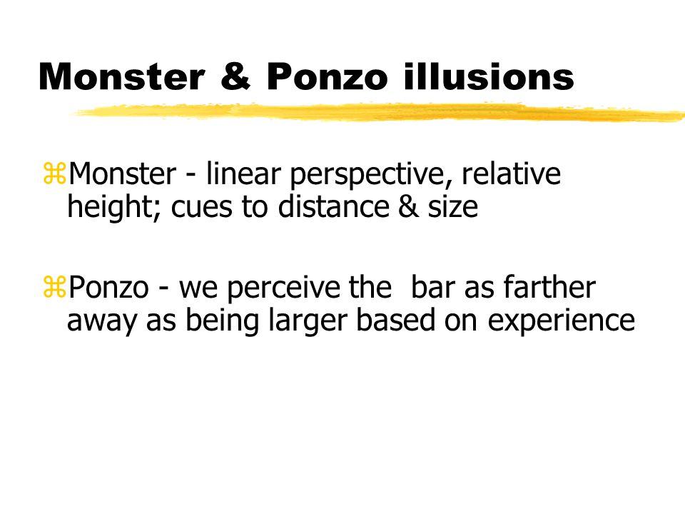 Monster & Ponzo illusions