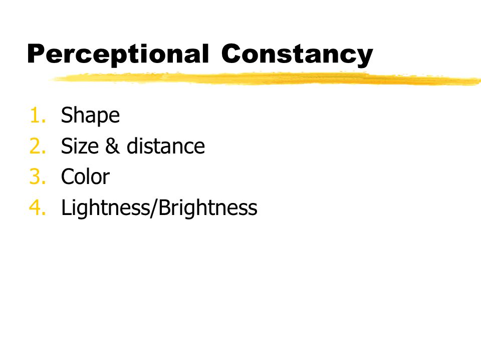 Perceptional Constancy