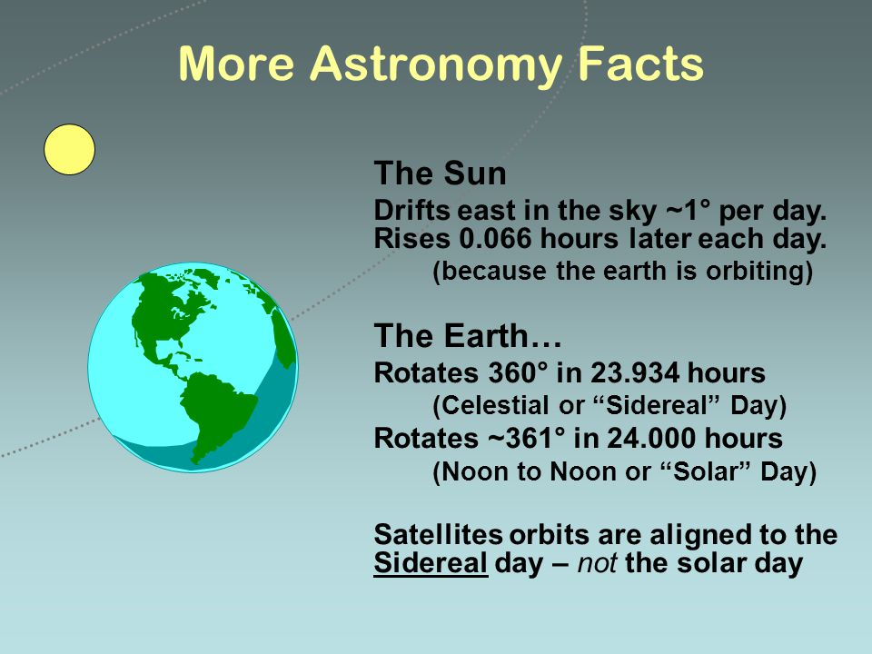 More Astronomy Facts The Sun The Earth…