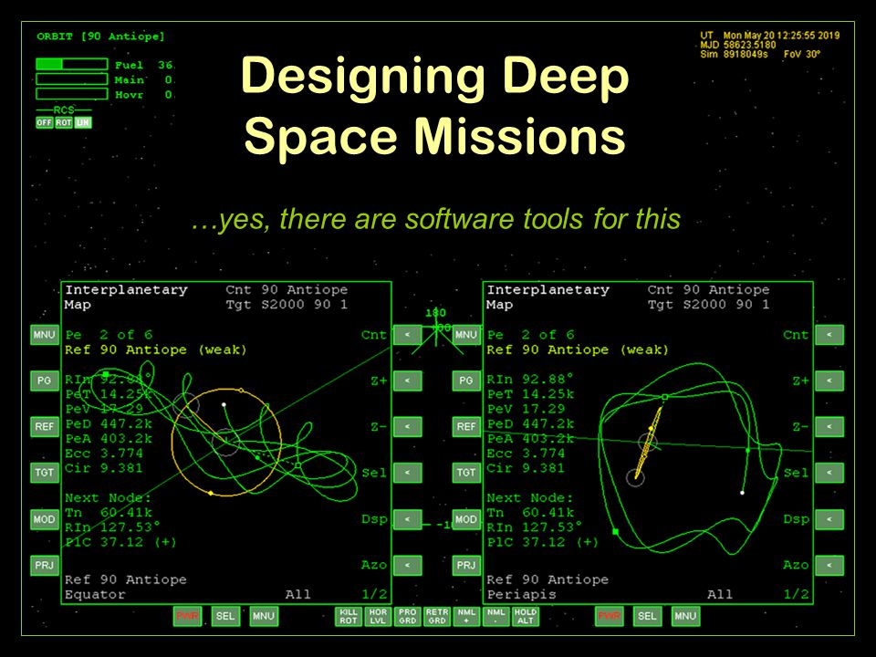 Designing Deep Space Missions …yes, there are software tools for this