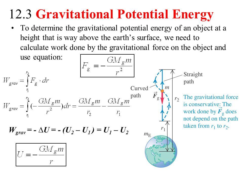 12.3 Gravitational Potential Energy