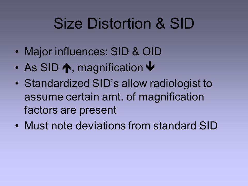 Size Distortion & SID Major influences: SID & OID