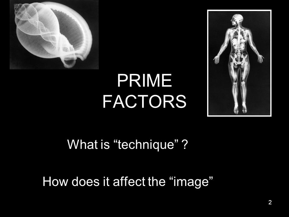 What is technique How does it affect the image