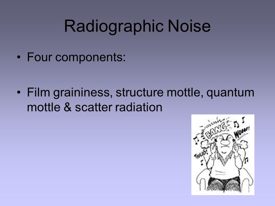 Radiographic Noise Four components: