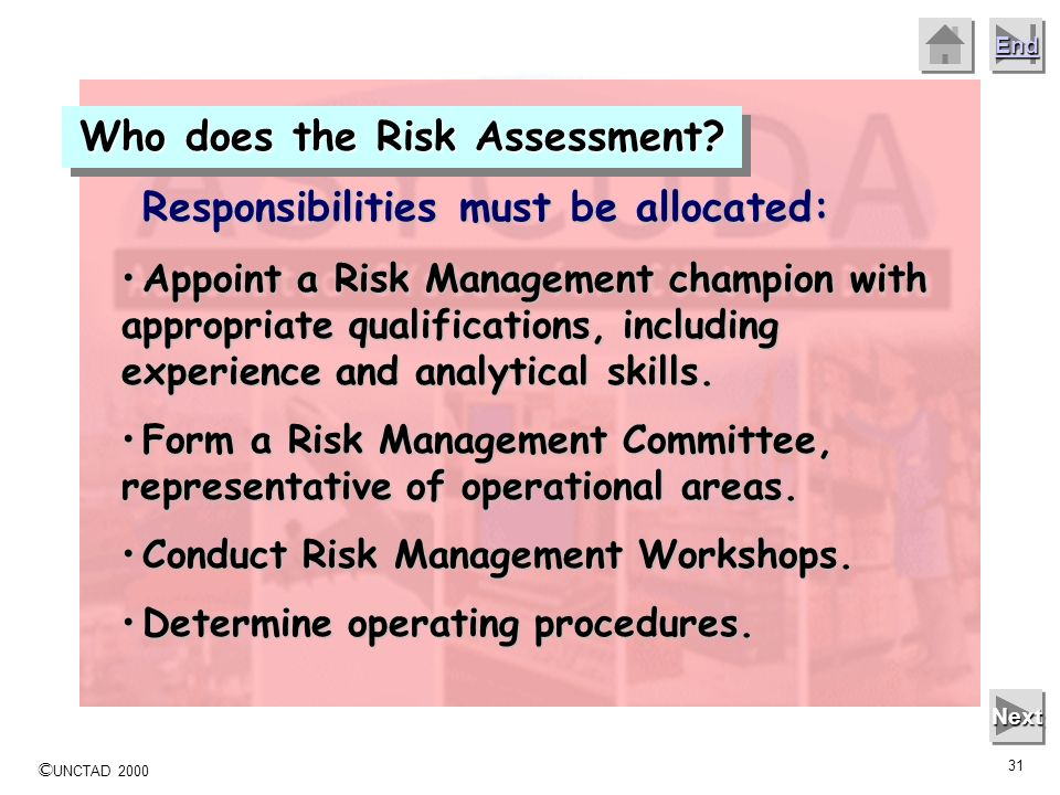 Who does the Risk Assessment