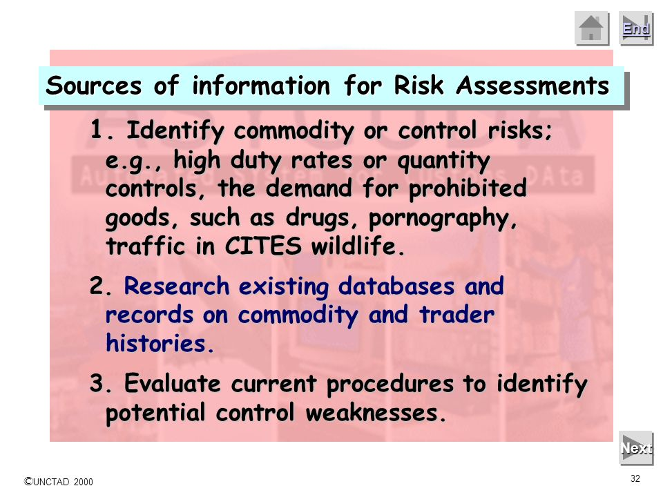 Sources of information for Risk Assessments