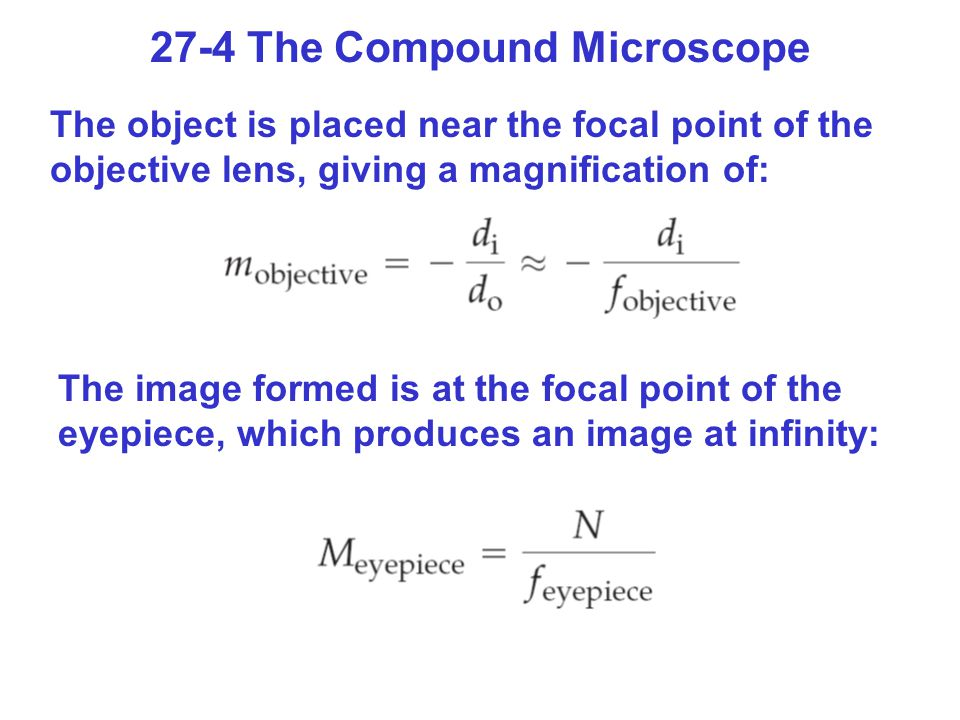 27-4 The Compound Microscope