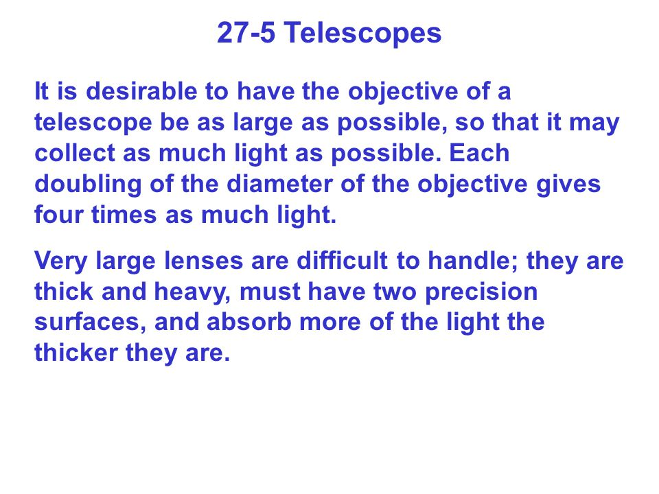 27-5 Telescopes
