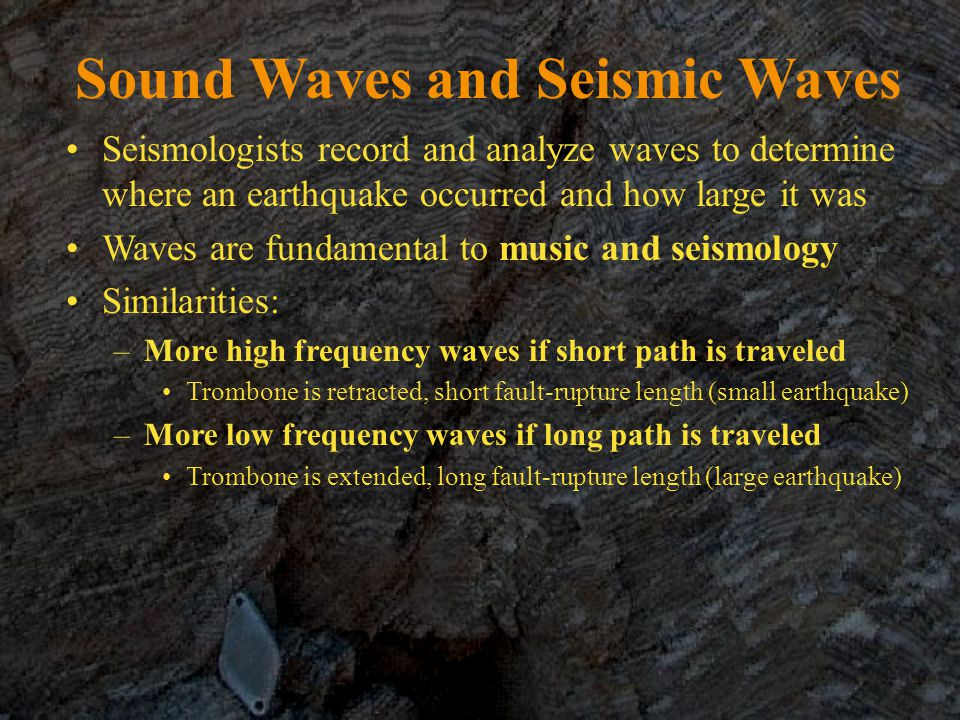 Sound Waves and Seismic Waves