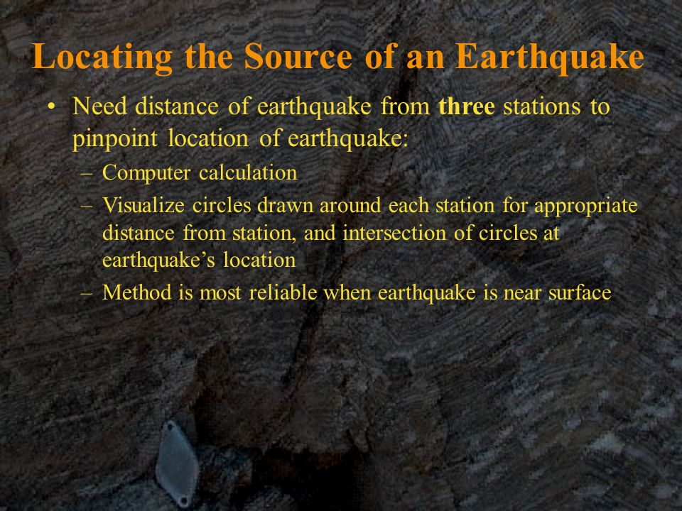 Locating the Source of an Earthquake