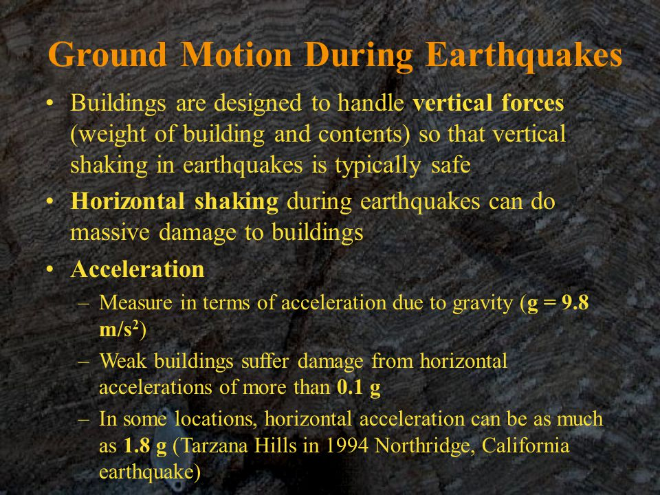 Ground Motion During Earthquakes