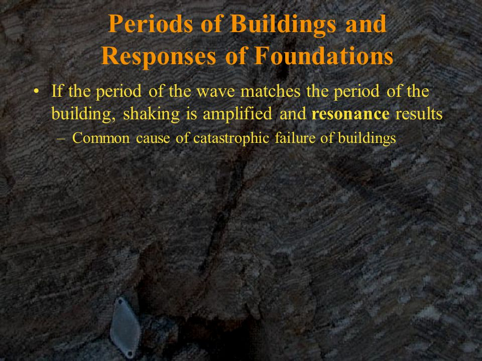 Periods of Buildings and Responses of Foundations