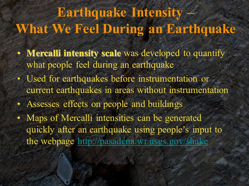 Earthquake Intensity – What We Feel During an Earthquake