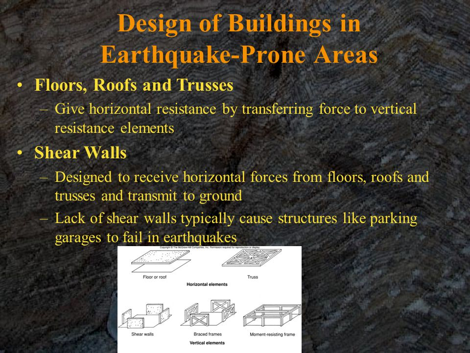Design of Buildings in Earthquake-Prone Areas