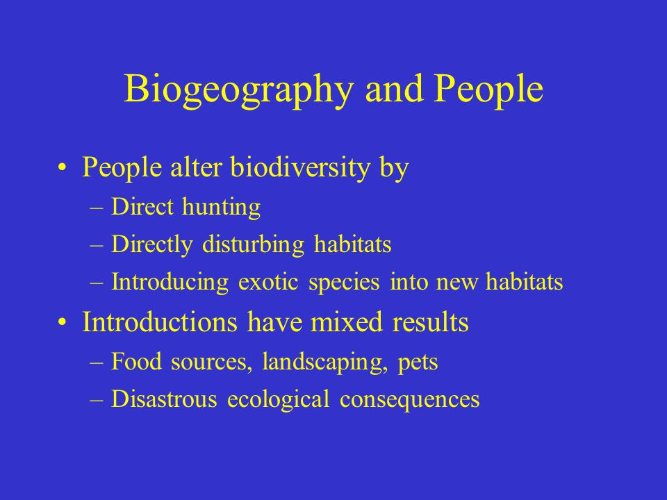 Biogeography and People