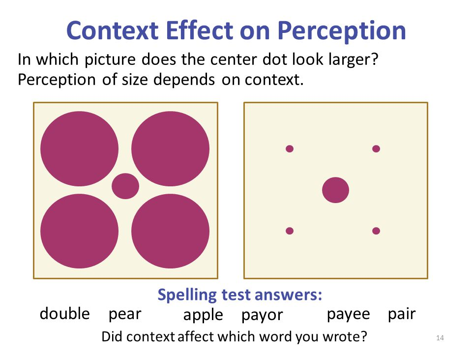 Context Effect on Perception