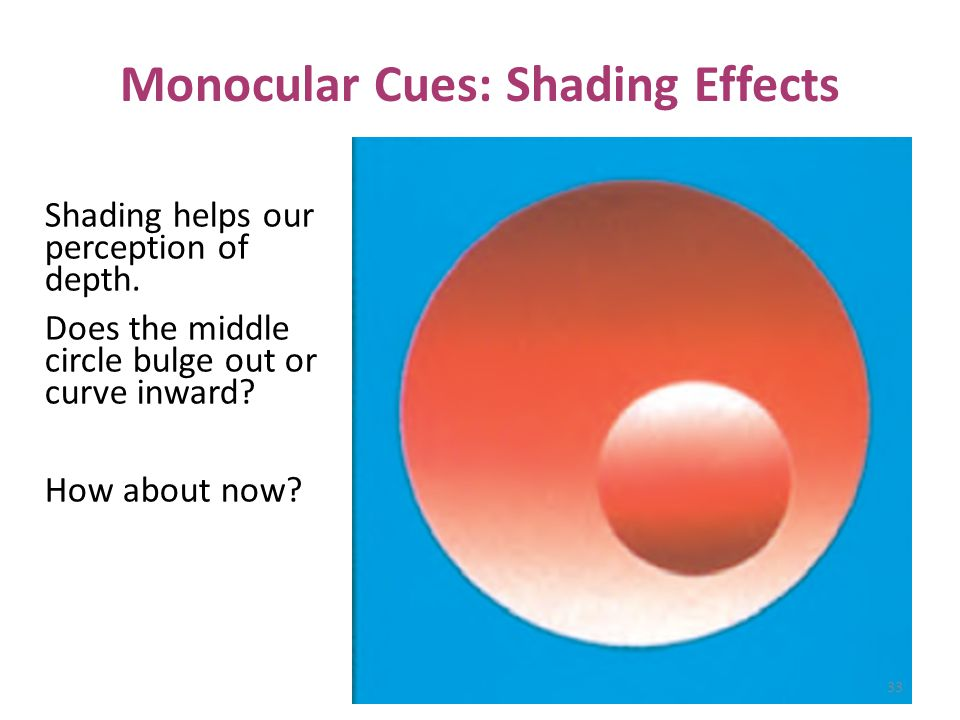 Monocular Cues: Shading Effects
