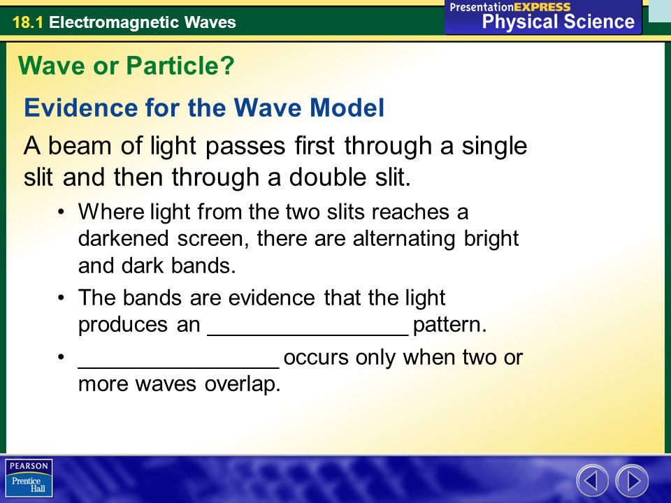 Evidence for the Wave Model