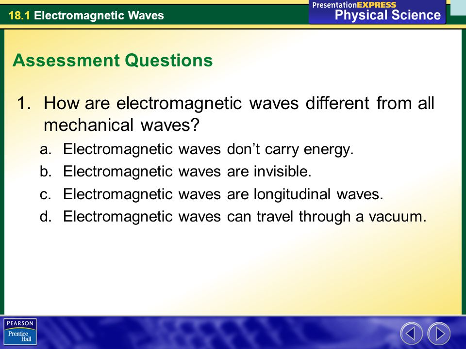 How are electromagnetic waves different from all mechanical waves