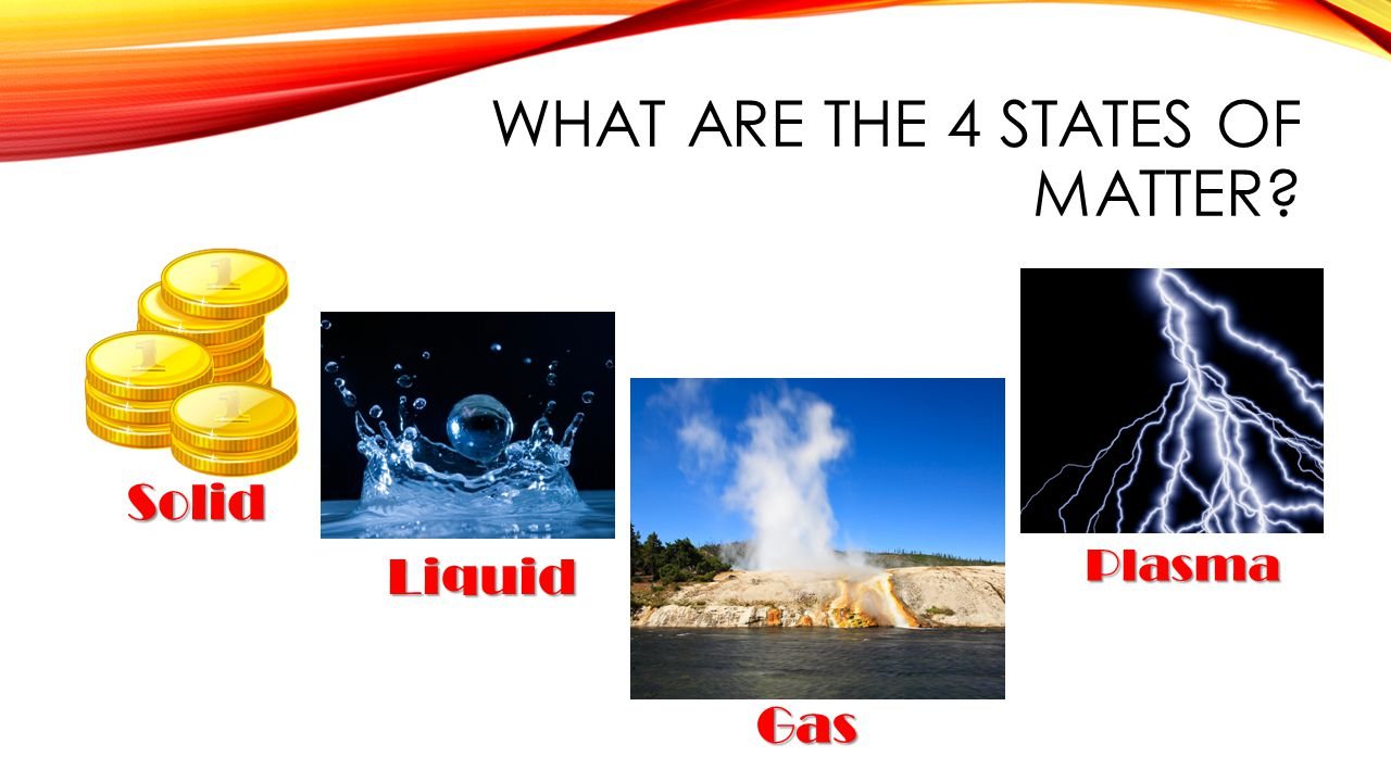 What are the 4 states of matter
