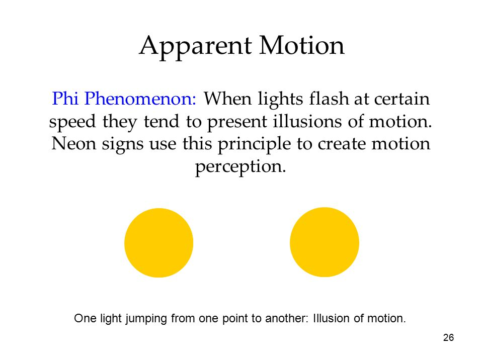 Apparent Motion