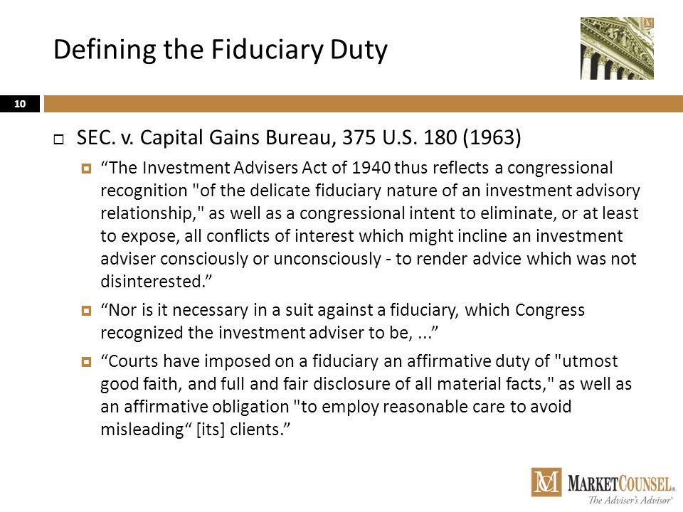 Defining the Fiduciary Duty