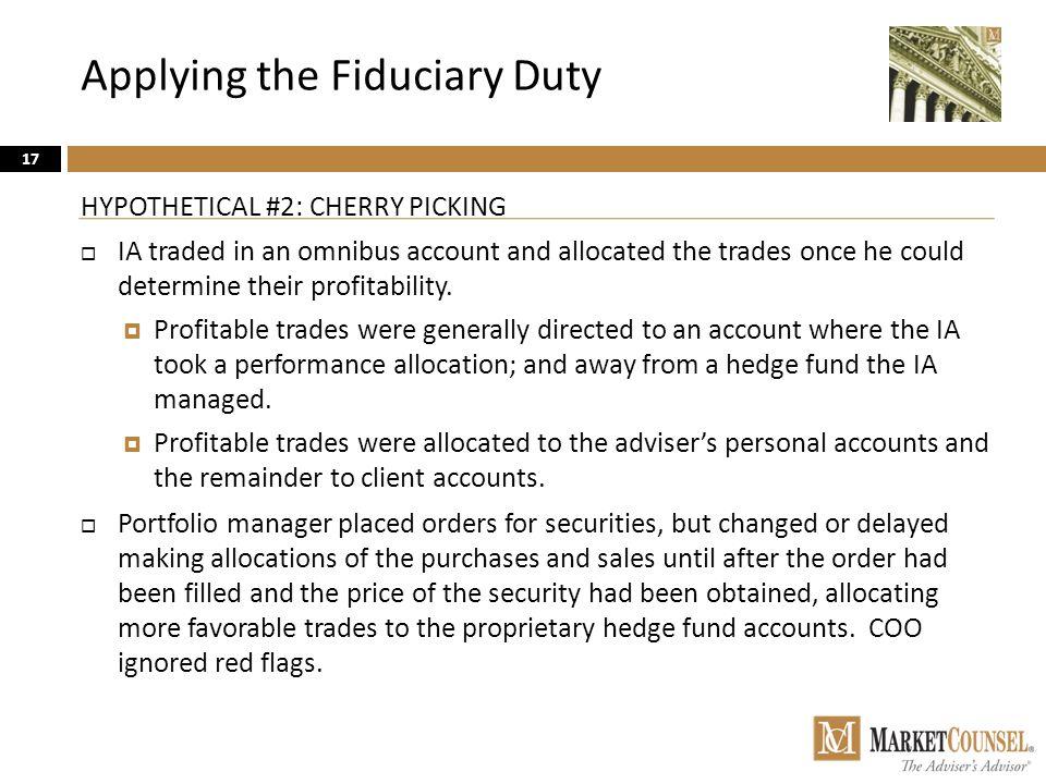 Applying the Fiduciary Duty