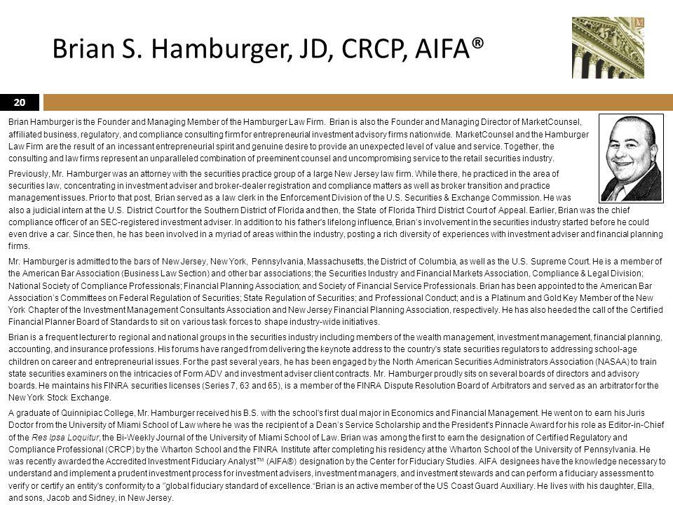 Brian S. Hamburger, JD, CRCP, AIFA®