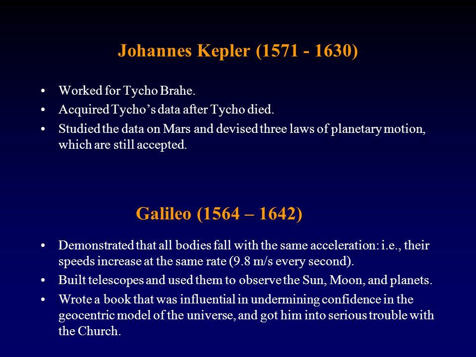 Johannes Kepler (1571 - 1630) Galileo (1564 – 1642)