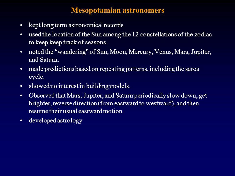 Mesopotamian astronomers