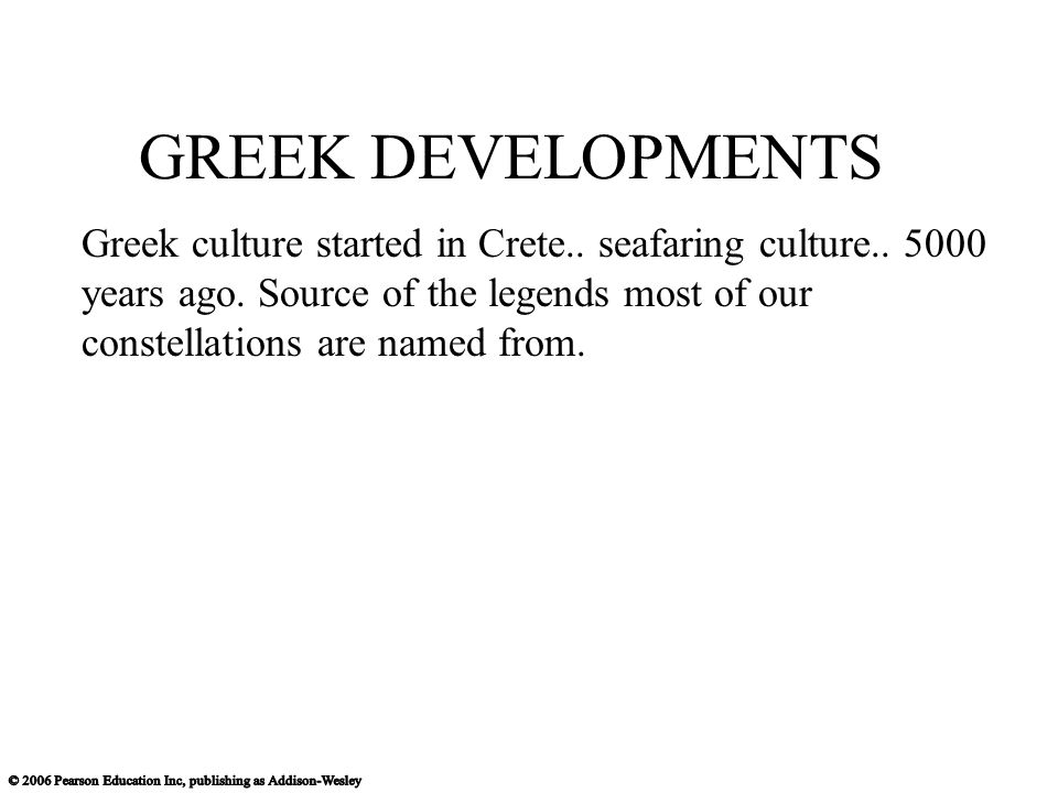 GREEK DEVELOPMENTS
