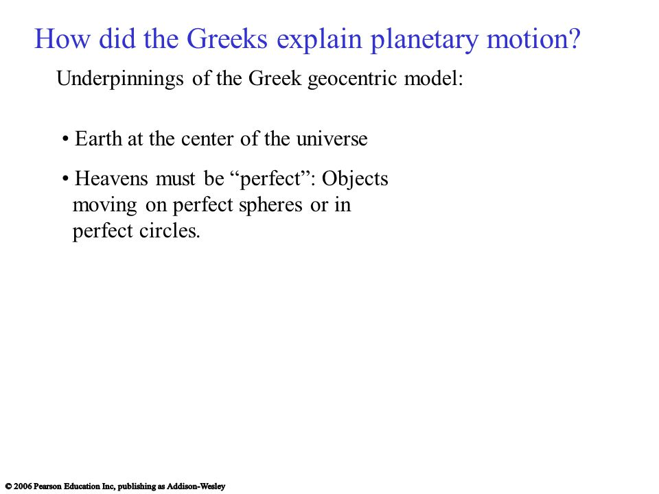 How did the Greeks explain planetary motion
