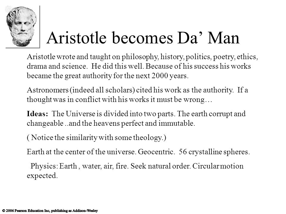 Aristotle becomes Da' Man