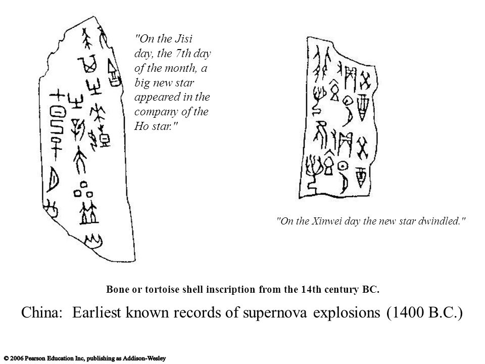 Bone or tortoise shell inscription from the 14th century BC.
