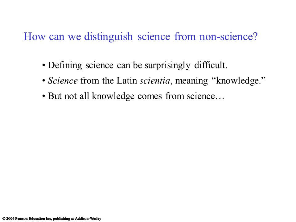 How can we distinguish science from non-science