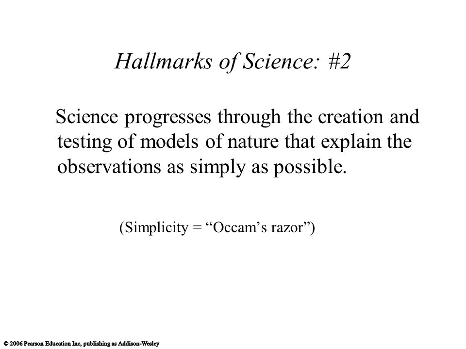 Hallmarks of Science: #2